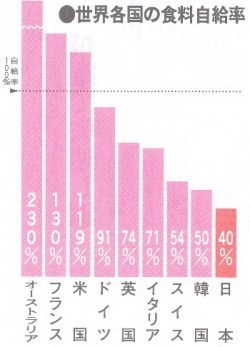 牛肉 の 自給 食料 率 の 日本