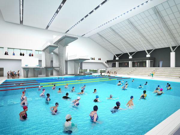 飛び込み設備 国内屈指 練習用スペース、日本一の広さに 建設中の栃木県新屋内水泳場|スポーツ,県内主要|下野新聞「SOON」ニュース|下野新聞 SOON(スーン)